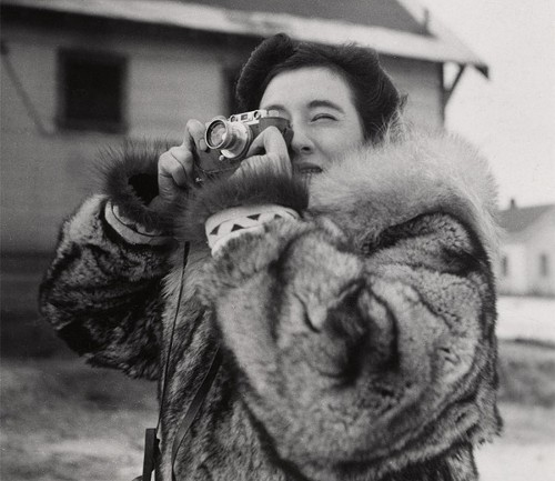 Ruth Gruber in Alaska, looking more fabulous in the freezing cold than you could ever dream.