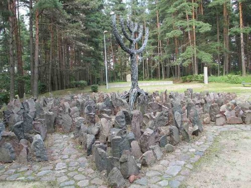 The Rumbula Forest Memorial in Latvia