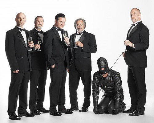 The sophisticated gentlemen in Faith No More like to accessorize with a gimp.