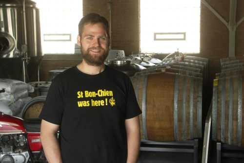 Transient founder Chris Betts with some of the barrels in which his beers acquire their special qualities