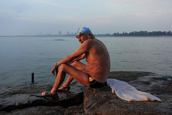 Record-setting swimmer Ted Erikson, 92, still swims with the Southside Pod. - DAVID TRAVIS