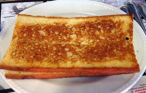 Uninspired grilled cheese