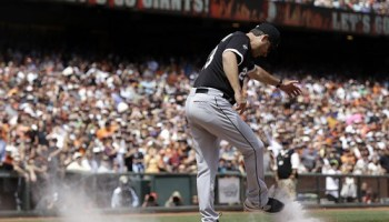 White Sox manager Robin Ventura kicks up a fuss in San Francisco yesterday about an overturned call at home plate.