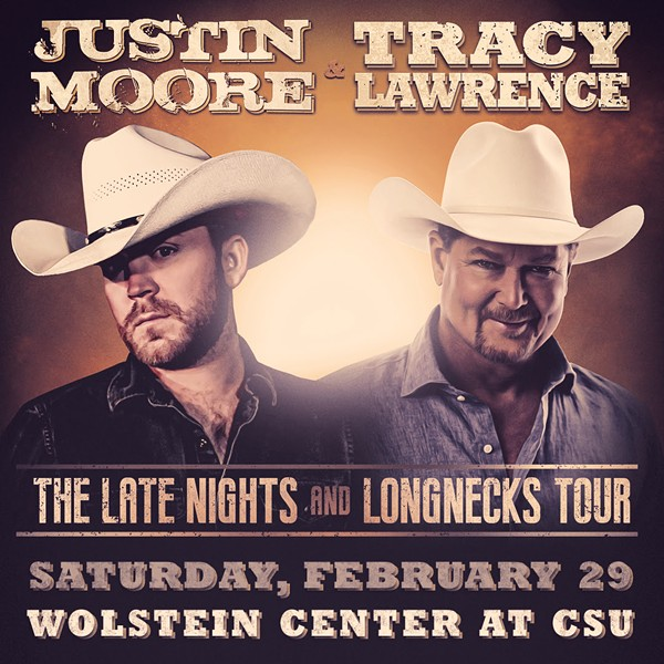 Country Stars Justin Moore and Tracy Lawrence Coming to Wolstein Center in February
