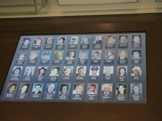 Photos of the passengers and crew of Flight 93, including Richard Guadagno. - PHOTO COURTESY OF THE NATIONAL PARK SERVICE