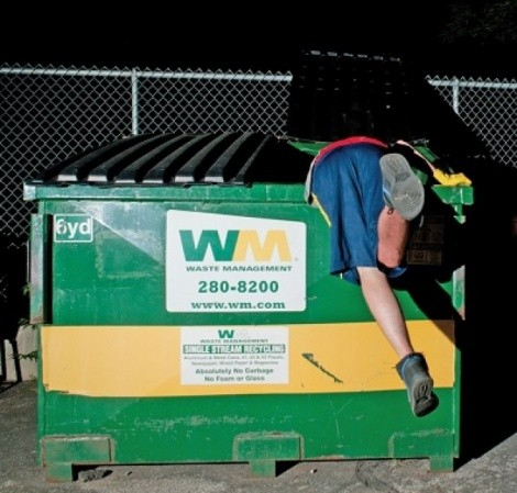 Image result for diving in the dumpster gifs