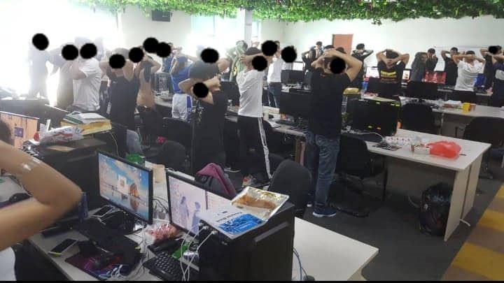 imigresen serbu markas scam online terbesar di cyberjaya, 1000 warga china ditahan