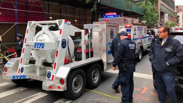 NYPD presser on 12th suspicious package found
