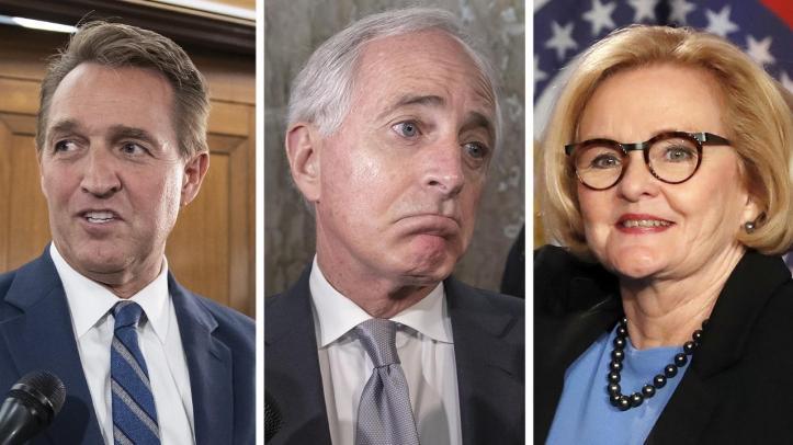 Flake, Corker, McCaskill take parting shots at Trump