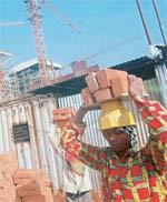 Building blocks: Jain Steel and Power�s construction site