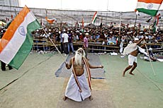 Supporters of Anna Hazare