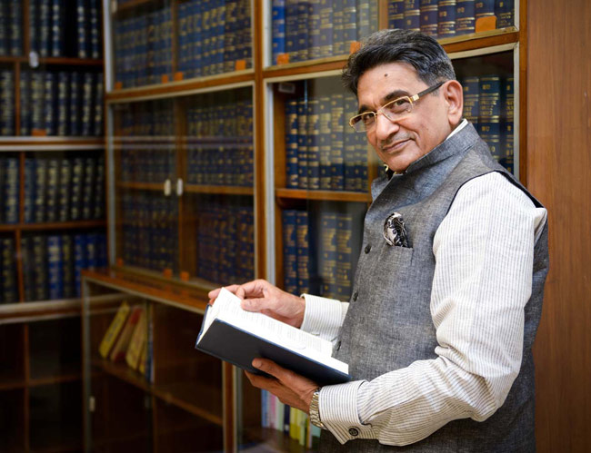 Chief Justice R.M. Lodha at his Krishna Menon Marg Bungalow in Delhi. India Today Photo/M Zhazo
