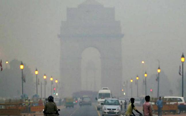 Image result for Air pollution in New Delhi, Diwali, photos