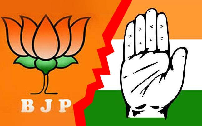 Image result for Congress vs BJP