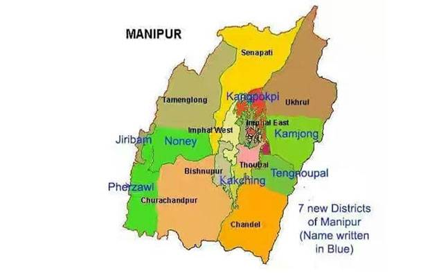 Image result for 7 new district manipur