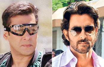 Collage of Salman and Hrithik