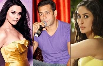 Preity Zinta, Salman Khan and Kareena Kapoor