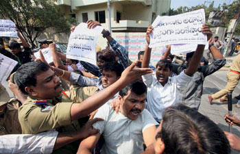 Protests over Telangana