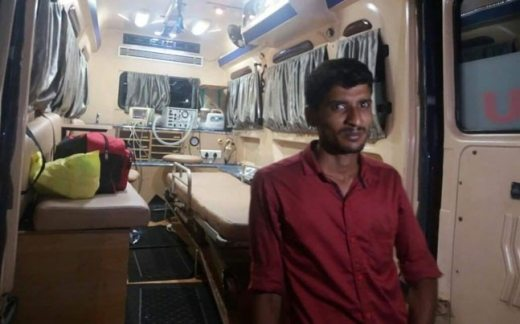 Thamim, the ambulance driver who transported an ailing month-old baby from Kannur to Thiruvananthapuram
