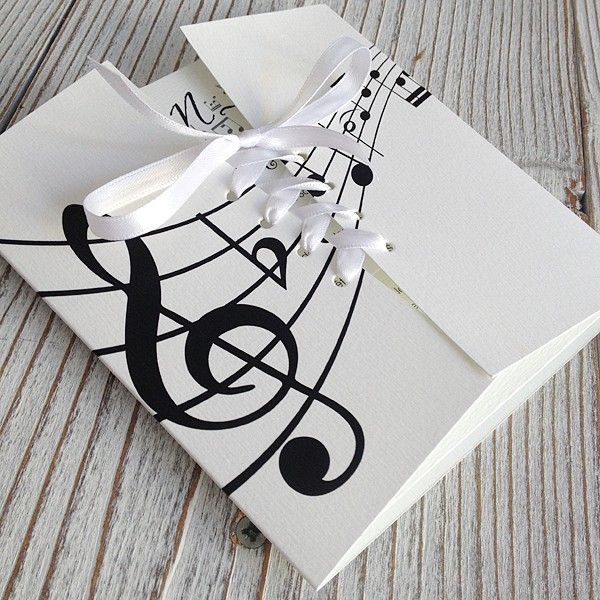 Faire Part Mariage Les Notes De Musique