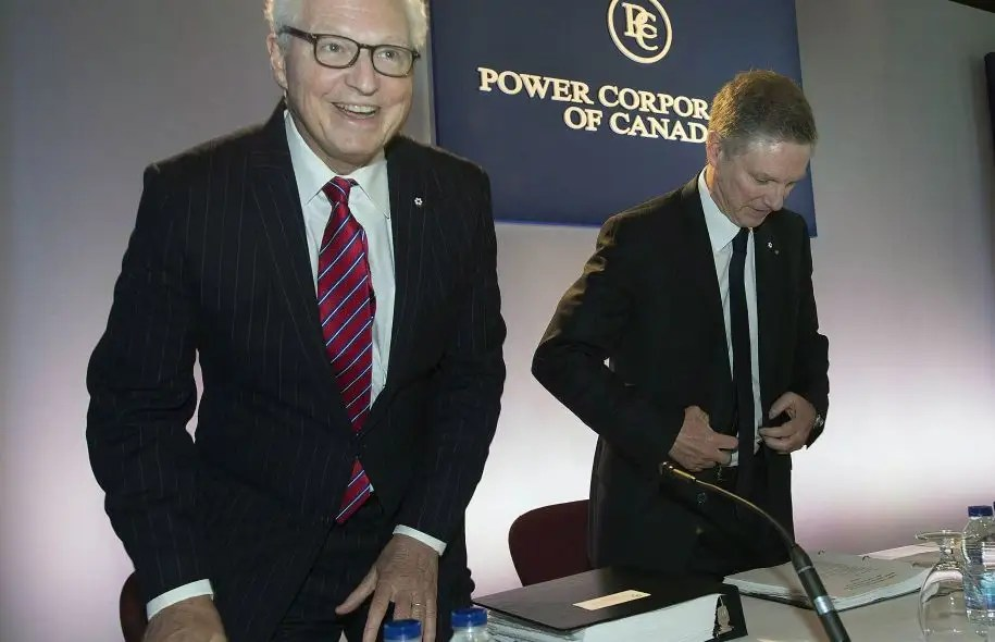 André Desmarais et Paul Desmarais fils, cochefs de la direction de Power Corporation.
