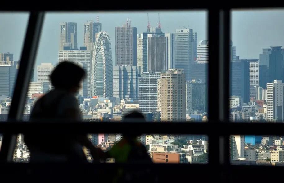 Vue sur la ville de Shinjuku, à Tokyo