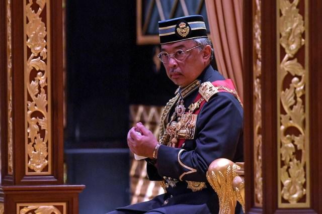 Yang di-Pertuan Agong Al-Sultan Abdullah Ri'ayatuddin Al-Mustafa Billah Shah decreed that due to the Covid-19 pandemic, now is not the time to hold a general election. — Bernama pic