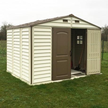 abri de jardin en pvc woodstyle premium 7 68m duramax
