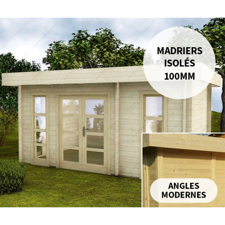 abri en bois massif 15m avec isolation 100mm moderne gardy shelter