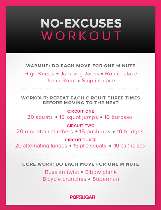 Body-Weight Workout For Women | Poster | POPSUGAR Fitness
