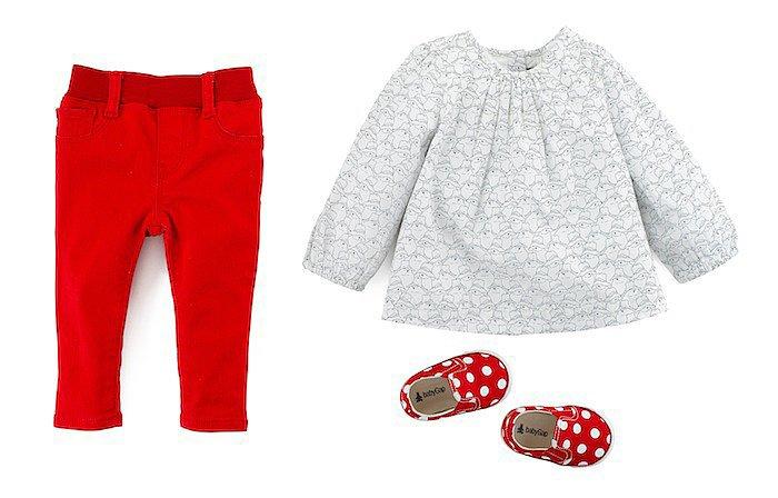 Legging Jeans ($25) , Printed Tunic ($27), Polka-Dot Shoe ($20)<br /><br /><br /><br /><br /><br /><br />