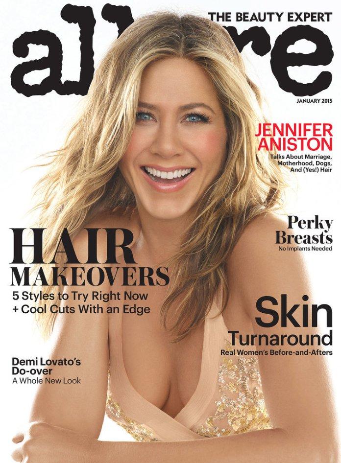 Hot Jennifer Aniston Foto Allure Magazine January 2015