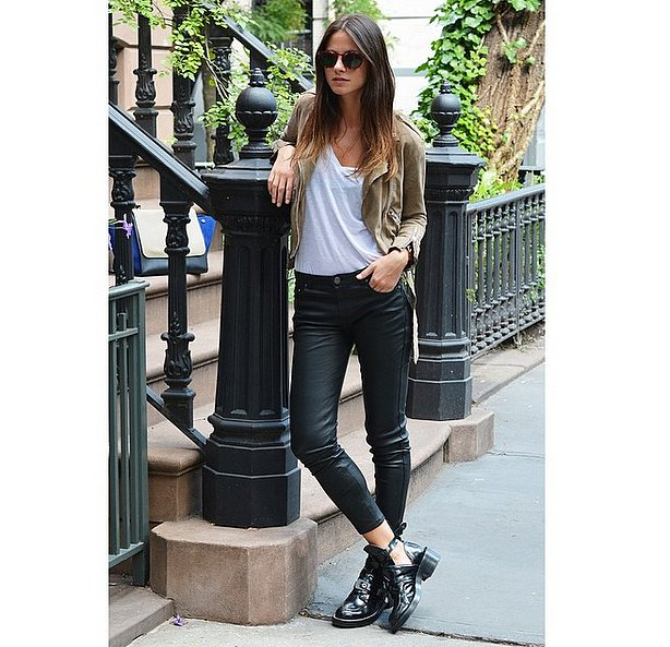 Biker-Chic With Boots and Slick Denim
