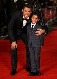 Cristiano Ronaldo ed suo figlio hanno colpito il tappeto rosso, fondono tutti i cuori