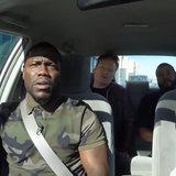Kevin Hart, cubetto di ghiaccio ed erbaccia del fumo di Conan OBrien e poliziotti di Dodge mentre guidando intorno alla LA