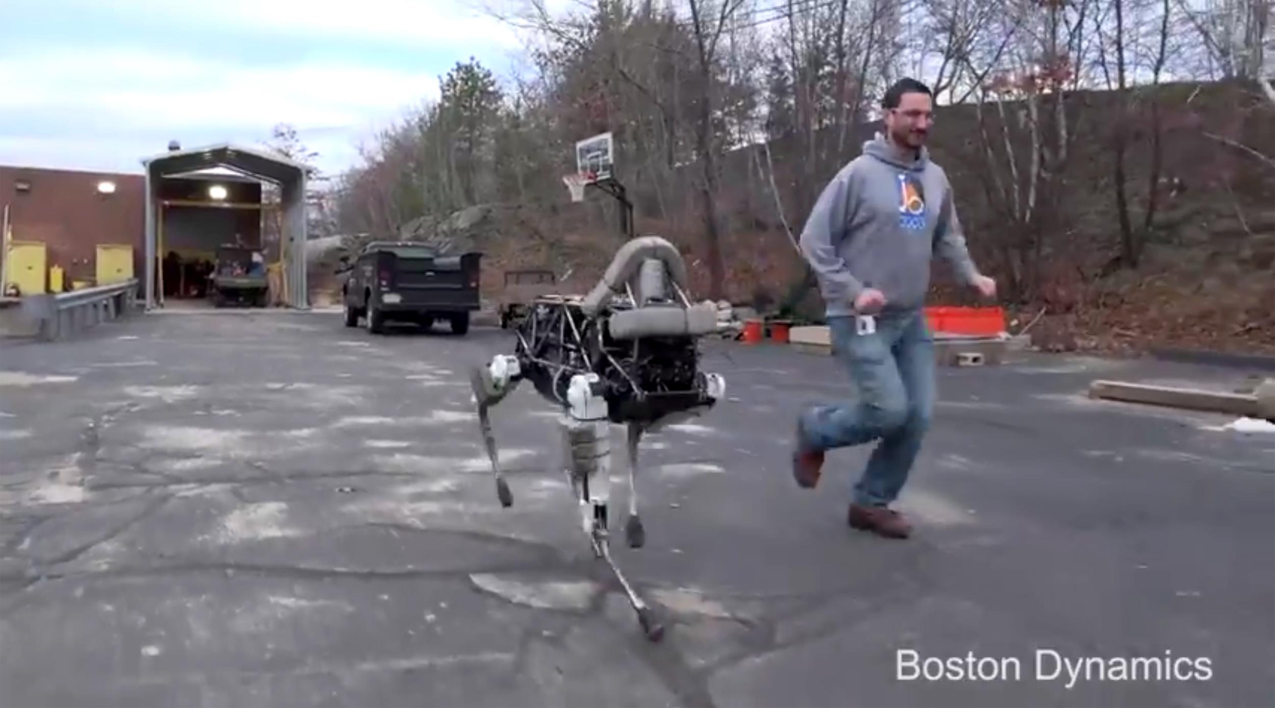 Here Spot See Boston Dynamics New Robot Dog Run And