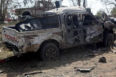 Image result for landmine explosion hodeidah car
