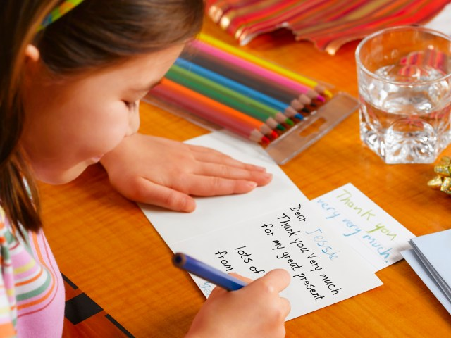 Should kids be forced to write thank-you notes?