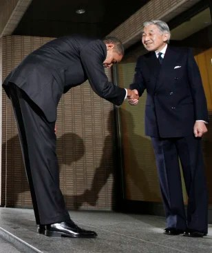 Image result for obama bowing to japanese emperor