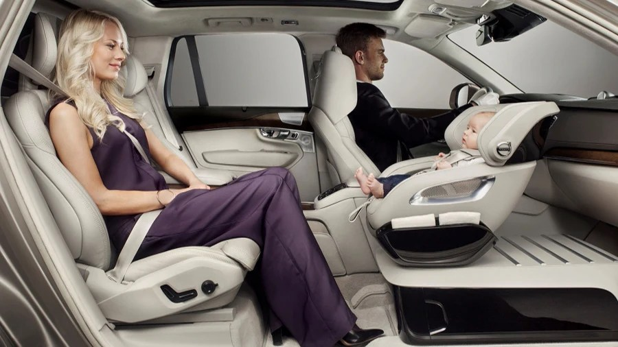Volvos New Concept Puts Child Car Seat In Front Seat