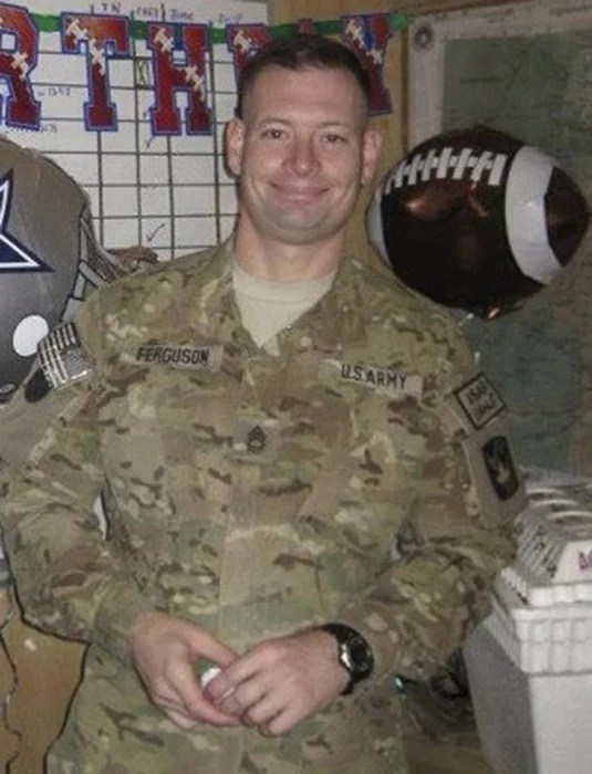 Image: Sergeant First Class Daniel Ferguson, of Florida, who served as a transportation supervisor and had been deployed to Kuwait, Iraq and Afghanistan, is pictured in this undated handout