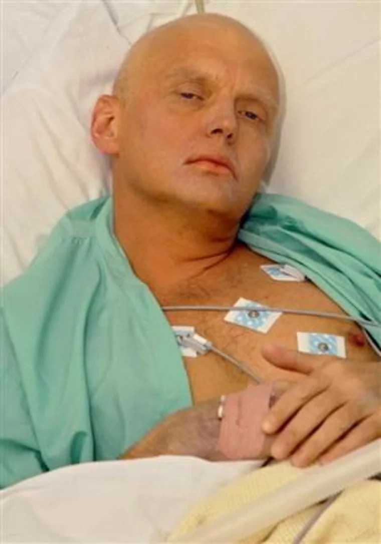 IMAGE: Alexander Litvinenko in a London hospital bed shortly before his death in 2006.