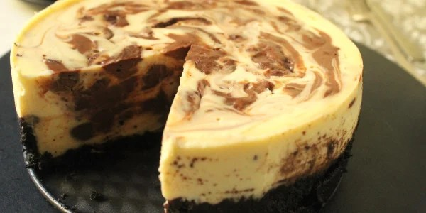 Slow-Cooker Chocolate Marble Cheesecake