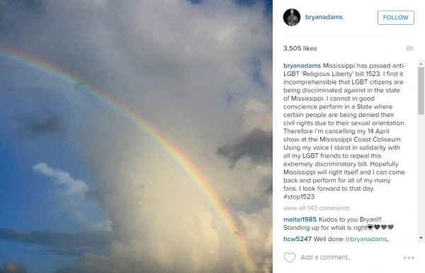 Bryan Adams' Instagram