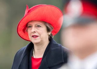 Image: Theresa May attends the Sovereign's Parade at  Britain's Royal Military Academy Sandhurst
