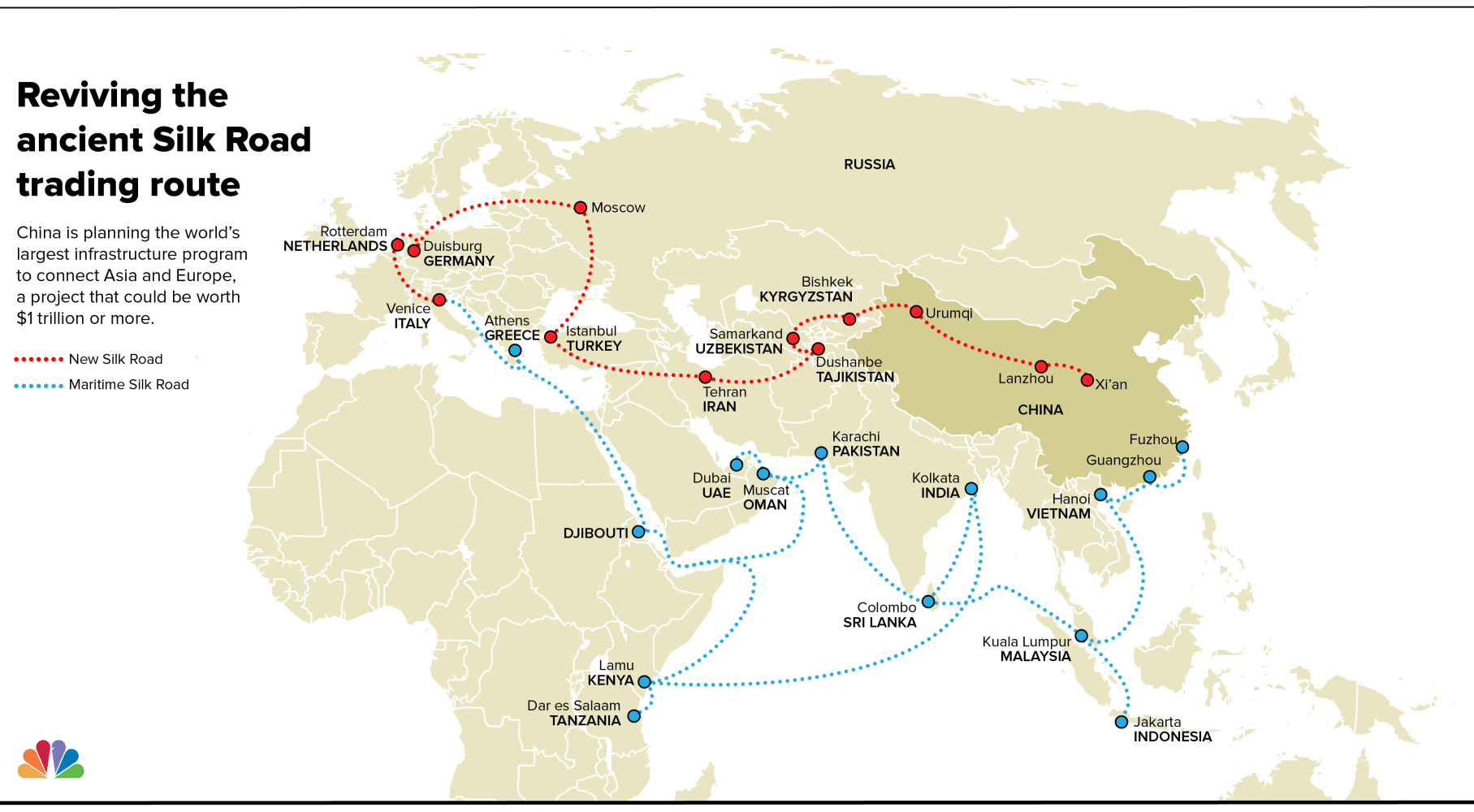 Ancient Silk Road Trade Routes Beijing China