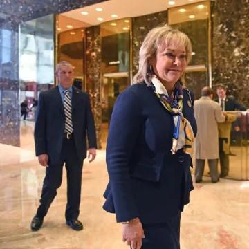 Image: Oklahoma Governor Mary Fallin arrives at Trump Tower