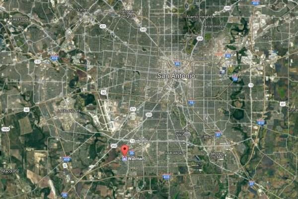 Image: A Walmart in San Antonio where the truck was found