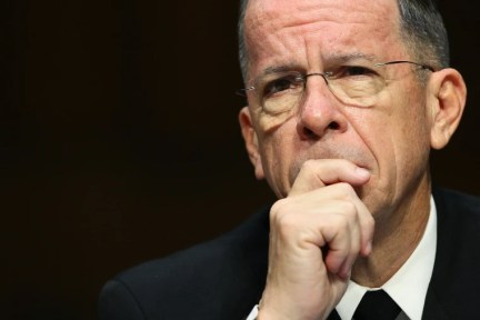 Image: U.S.  Chairman of the Joint Chiefs of Staff Adm. Michael Mullen testifies before the Senate Armed Services Committee Sept. 22, 2011 in Washington