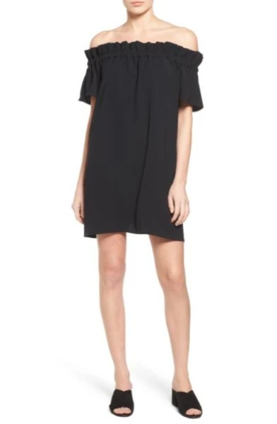 black off the shoulder dress Nordstrom